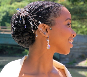 natural hair wedding idea 6
