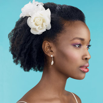 natural hair wedding idea 7