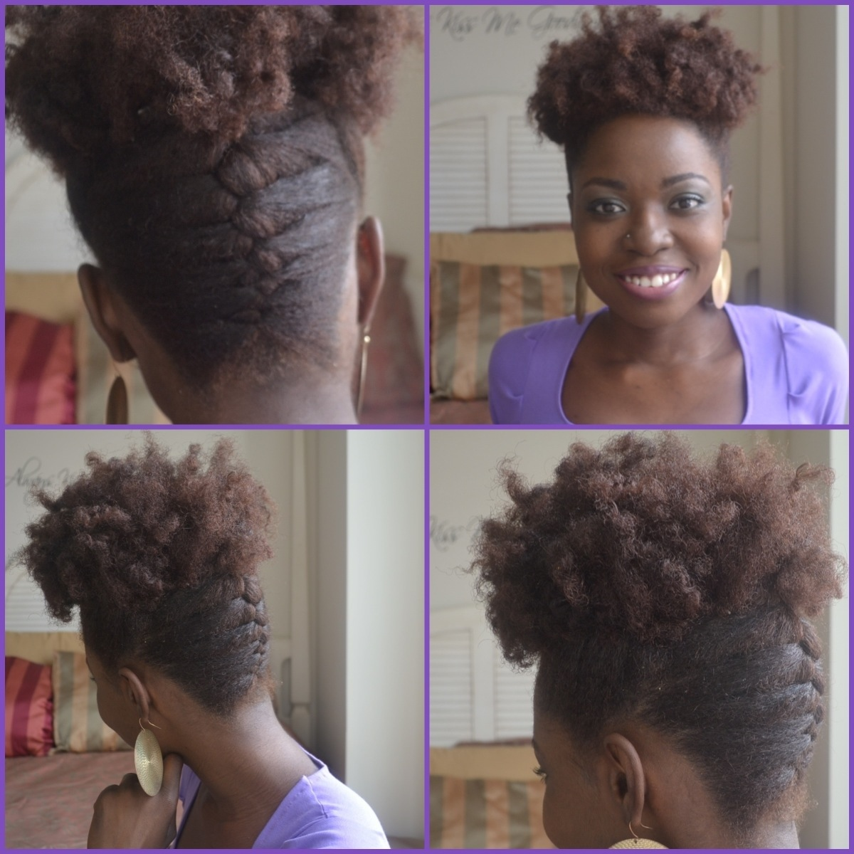 French Braid Updo Hairstyles From The Editor French Braid Updo Tutorial Brown Skin Women