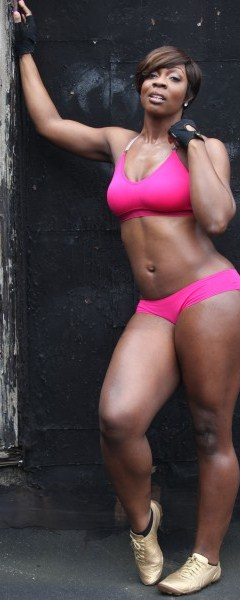 sexy tone black woman hot athletic type